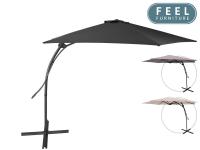 Tot 63% Korting Feel Furniture Zweefparasol van 3 meter, cover, tegelset bij iBOOD