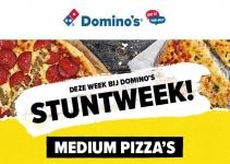 Tot 72% korting Medium Pizza tijdens stuntweek via App voor €2,99 bij Domino's