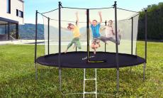 Tot 72% korting Jump4Fun-trampoline met binnennetten en ladder bij Groupon