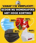 Tot 92% op mondkapjes en  corona preventie spullen bij Voordeelvanger