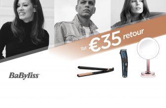 Tot €35 Cashback BaByliss of BaBylissMEN actieproduct