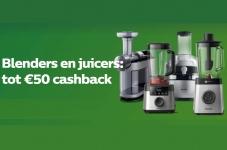Tot €50 Cashback Blenders en Juicers bij Philips