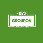 15% Extra Korting met kortingscode op 5 Hotel & Reizen deals bij Groupon