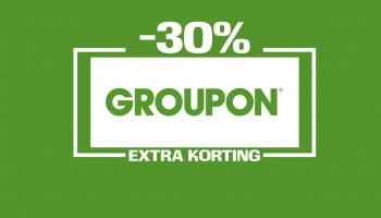 Tot 30% Extra Kortingscode op 5 deals bij Groupon