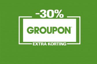 Tot 30% Extra Korting met Kortingscode op alles bij Groupon
